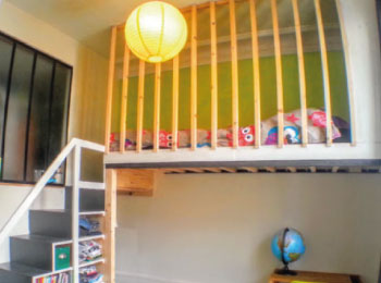 mezzanine gain de place paris lit enfant